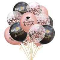 Graduation de décoration de fête Confetti Ballons Balloons Casquette suspendue Pic Clip POW SouvenirsFavorite Decor Cadeaux, Q