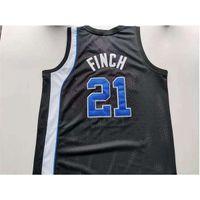 001Rare jersey de basquete homens juventude mulheres tigres vintage larry finch tamanho preto s-5xl personalizado qualquer nome ou número