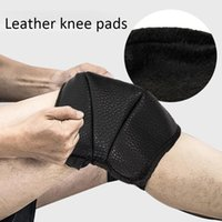 Elbow & Knee Pads Professional Leather Protective Motorcycle Thick Warm Kneepad Brace Motorbike Riding Volleyball Sports Windproof Leg