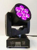 Effekte 2021 Zoom Waschen Bewegt Kopf 7x15w RGBW 4in1 LED Mini DJ DMX Bühnenlicht