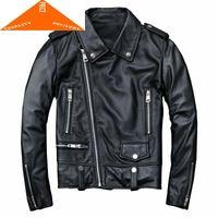 Women's Leather & Faux Moto Genuine Women Jacket Real Sheepskin Coat Female Autumn Short Biker Natural Outwear Clothes CC