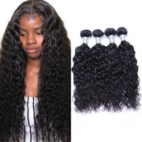 Peruvian Virgin Hair Extensions 3 or 4 Bundles Water Wave Human Hairs Weave 100g pc Double Weft