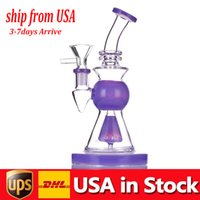 1pcs Glass Bong smoking pipe 10.5 inch Tall 14mm joint thick base dab rig beaker Bongs with male smoking bowl in stock USA