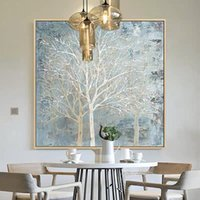 Pinturas Money Tree Imagen 100% pintada a mano Moderno abstracto pintura al óleo sobre lienzo Arte de la pared para la sala de estar Decoración del hogar No Enmarcado