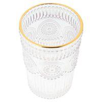 Mugs 1pc Vintage Embossment Glass Cup Luxury Beer Mug Water Beverage For Bar Restaurant 250ml