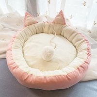 Cat Beds & Furniture Nordic Style House Removable And Washable Small Medium Pet Supplies Crystal Velvet Cotton Litter