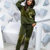 Women Winter Women's Sets Tracksuits Full Sleeve Hoodied Sweatshirt Pockets Pants Suit Two Piece Set Outfits Sweatsuit S-3XL