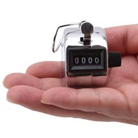 Digital Hand Tally Counter 4 Digit Number Held Manual Counting Golf Clicker Training Aids