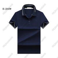 التماسيح طية صدر السترة رجل بولو قميص 5 ألوان العلامة التجارية مصمم جودة عالية تي شارع عارضة تيز الأزياء هومبر