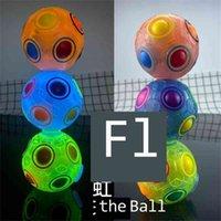 Tiktok Rotating Ball Ball Spinner DiscomPresione Toys Brillo en la oscuridad Fidget Magic Finger Balls Puzzle giratable fluorescente dedos Spinners Game G66V4N1