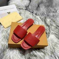 Hochwertige Revivale flache Maultiere Slipper Männer Frauen Rutschen Sandalen Designer Schuhe Schwarz Rosa Orange Blau Ufergegend Weiß Leder Flip Flops