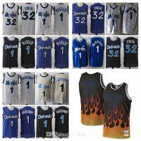 Klassischer Vintage Herren Jersey 1 Tracy # 132; McGrady HWC # 132; Orlando # 132; Magic # 132; Rückwärts-Retro-Penny-Hardaway-Basketball-Trikots