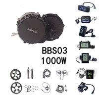 Bafang BBS02B BBS03 48V 1000W 750W Moteur Conversiom Moteur Kit de moteur Mid Engine Vélo électrique avec LCD C965 C961 C18 850C Afficher VTT