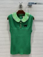 2021 İlkbahar Yaz Yaka Boyun Kolsuz Marka Aynı Stil Yelek Tasarımcı Yelek Lüks Kadın Mont 0322-21