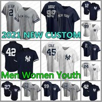 Nuovo 99 Aaron Judge York Yankees Jersey Derek Jeter Men Gerrit Cole Baseball Babe Ruth Women Gleyber Torres Youth 42 Mariano Rivera