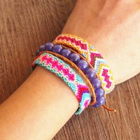 Charm Bracelets 3pcs set Women Handmade Jewelry Bohemia Zen Chakra Yoga Leather Wrap Bracelet 10MM Opal Strand Beaded Couple Gift