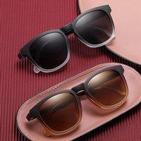 Sonnenbrillen-Magnetclip auf polarisierter Linse mit Lesebrillenrahmen in der Nähe von Vergrößerung Brillen Presbyopic Dioptrden