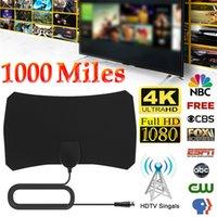 1000 milhas de boa qualidade 4K 25dbi alta ganho HD TV Antenas DTV-T2 caixa digital TVs Antena Booster Ativo Interior Aérea Design plano
