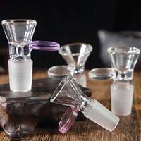 Bong-Zubehör-Farbrohr-Blase-End-Zigarettenhalter hohe Borosilikat-Glas-Rauchtopf tragbare kleine Eimer-Glocke-Mund-transparente Raucher-Werkzeuge DHL frei