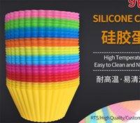7cm redondo copo de bolo de silicone muffin copo diy molde de cozimento pudding molde do bolo do molde do silicone 309 s2