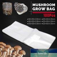 Planters & Pots 50 100Pcs PVC Mushroom Grow Bag Spawn Media Substrate High Temp Pre Sealable Garden Supplies Plastic Planting Bags