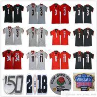 NCAA 150th Patch Uga Georgia Bulldogs Sugar Bowl College # 98 Rodrigo Blakenship 1 Justin Fields Michel 10 Jacob Eason 27 Nick Chubb Jerseys