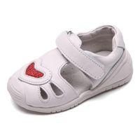 Niñas en forma de corazón Sandalias de cuero genuinas Deportes transpirables Niños Casual Hollow Out Baby Snowdler Zapatos Sandalias