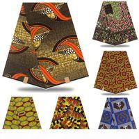 보장 된 진실 된 100 % 코 튼 아프리카 왁스 프린트 아프리카 ankara 왁스 진짜 나이지리아 왁스 드레스 여성 드레스 RT874 T200529