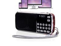 L-088 휴대용 스피커 MP3 오디오 음악 플레이어 Y-501 FM 라디오 라우드 스피커가 손전등 USB AUX TF 슬롯