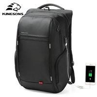 Kingsons Hommes Sacs à dos 13 '' 15 '' 17 '' Laptop Charger USB Sac Anti-vol pour Adolescent Fashion Homme Travel 210907