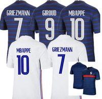 2021 França Futebol Jersey Maillots de futebol Maillot Equipe Francês 20 21 Mbappe Grisezmann Kante Pogba Men's