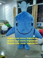 Blue Whale Ctacace Mascot Costume Adulto personaggio dei cartoni animati Personaggio del vestito Cartoni animati Figura Cartoons Abbigliamento ZZ7961