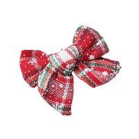 Christmas Girls Hair Accessories Hairclips Kids Barrettes Baby BB Clip Headdress Printed Bow Cute Accessory B8509