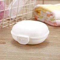Platos de jabón de viaje de plástico con tapa de la tapa Caja de macarrones Toporte portátil 5 colores disponibles HWE6221