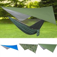Tents And Shelters Large Hammock Waterproof Rain Tent Tarp Lightweight Portable Ripstop Easily Fold Sun Shelter UV Protection