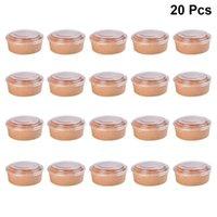 20pcs descartáveis papel kraft tigelas salada de frutas tigela recipientes