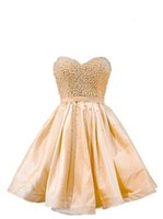Short Prom Dresses 2021 Homecoming Party Pageant Gowns Champagne Special Occasion Dress Dubai 2k19 Beads Pearls Lace Up Cheap