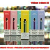 hod cuvie plus 포드 1200 퍼프 일회용 장치 담배 vape 펜 스타터 키트 950mAh 배터리 5.0ml 카트리지 전자 담배
