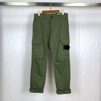 21 ss frühling männer baumwolle hosen grundlegende kompass abzeichen gestickte hochwertige werkzeugtasche hosen sport tragen lässig 2705