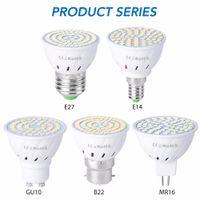 Lampadine a LED GU10 E27 E14 MR16 GU5.3 Spotlight Lampadina 48 6080Lesss 110-220V Bombillas Lampada a LED Lampada Spot B22 5W 7W 9W