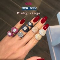 Godki New Collection Trendy Heart Aaa Cubic Zirkoon Stackable Chic Ring For Women Bruiloft Dubai Bridal Declaration Finger Ring 2019 210506