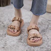 Sandals 2021 Summer Slippers Women Shoes Fashion PU Braided Chunky Platform Sandal Ladies Flip Flops Casual Beach Female Slides