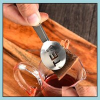 Coffee Tools Kitchen, Dining Bar Home & Garden Drinkware Reusable Stainless Steel Bag Tongs Teabag Squeezer Holder Grip Metal Spoon Mini Sug