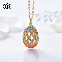New Accessories Women's Sweater Chain with Swarovski Element Crystal Egg Necklace