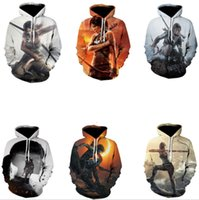popular game Tomb Raider 3D printing Hoodie, loose size sweater
