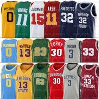 NACC Стивен Дэвидсон Wildcats Джерси Карри Леброн Уэстбрук Дуэйэн Хардин Уэйд Кевин Джеймс Дюрант Иверсон Колледж Баскетбол