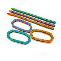 Wacky Tracks Snap и Щелкните Findget Toys Party Gifts Змея головоломки Table Игрушка для детей Взрослые Аутизм Стресс Стресс облегчает пальцы заняты HH21-164