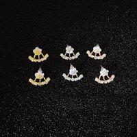 Anti Anti Anti Allergico Pure Jewelry S 925 sterling sterling sterling flower flower anteriore e schienale orecchini a due lati orecchini orecchio chiodo 533 z2