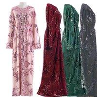 Ethnic Clothing Sequin Arabic Abaya Kimono Cardigan Muslim Hijab Dress Women Turkish Islam Ramadan Eid Mubarak Niqab Saudi Arabia Dubai Kaft