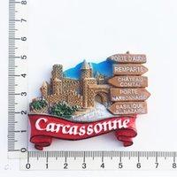 Ima De Geladeira (Carcassonne França) Imã De Geladeira Imã de Geladeira Creative Travel Comemorando artesanato 3D Ornamentos Magnetismo Resina Material Refrigerator Stick